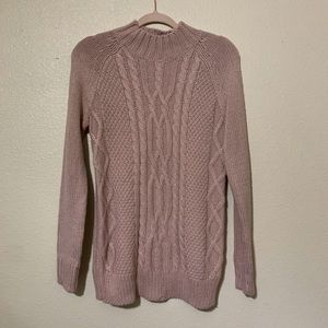 Isabel Maternity pink pullover sweater - XS